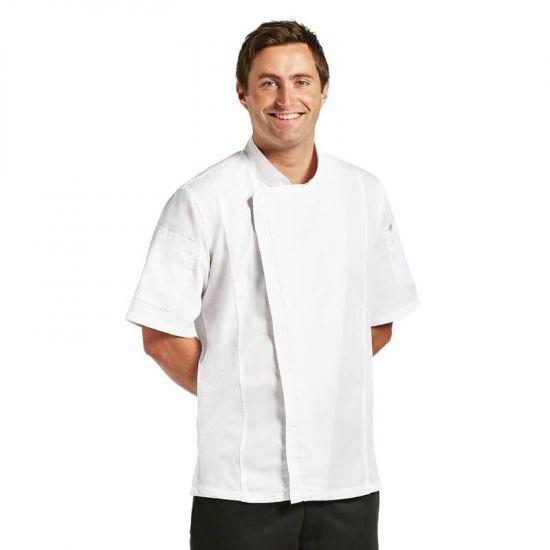 Chef Works Springfield Zipper Unisex Chefs Jacket White XL URO B471-XL