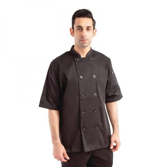 Chef Works Chambery Unisex Chefs Jacket Black L URO B485-L
