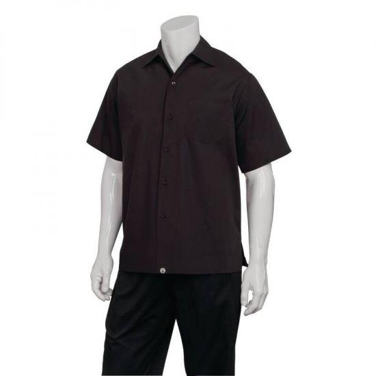 Chef Works Cafe Shirt Black XS URO B621-XS