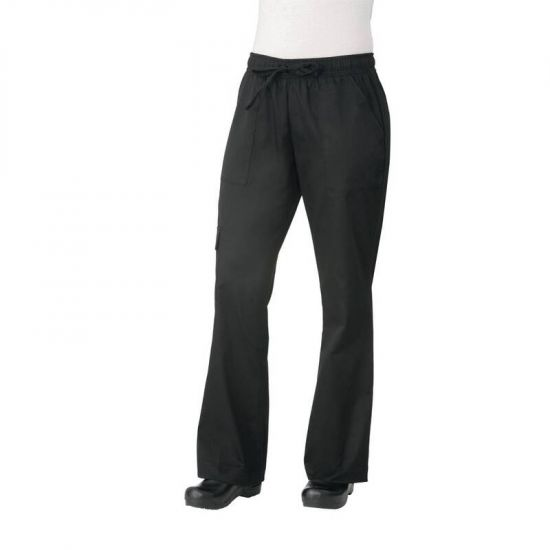 Chef Works Womens Cargo Chefs Trousers Black L URO B630-L