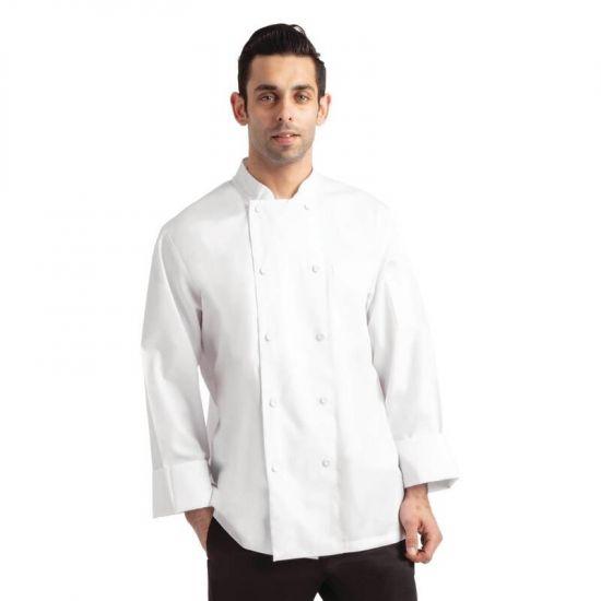 Chef Works Calgary Cool Vent Unisex Chefs Jacket White XS URO B649-XS