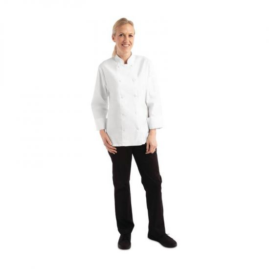 Chef Works Sofia Womens Chefs Jacket White M URO B664-M