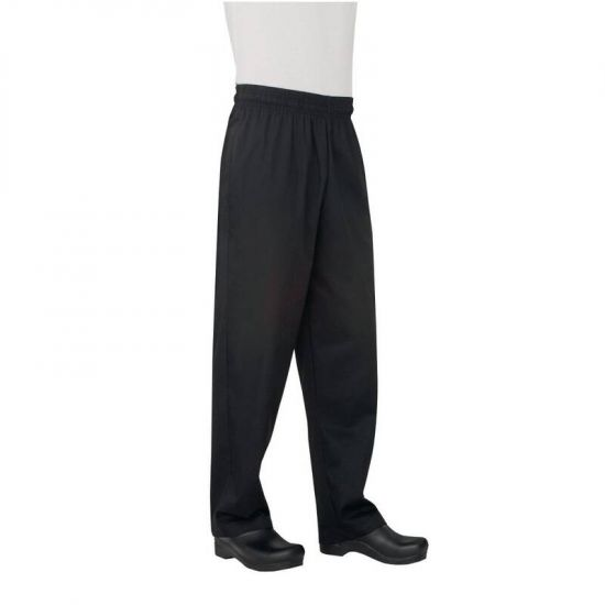 Chef Works Unisex Basic Baggy Chefs Trousers Black 2XL URO B697-XXL