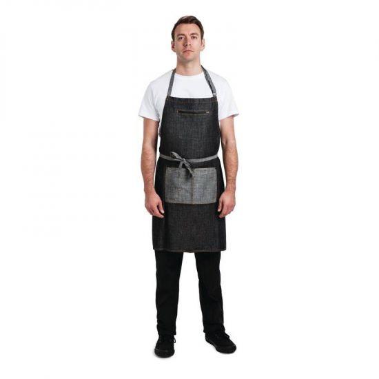 Chef Works Urban Manhattan Bib Apron Black URO B718