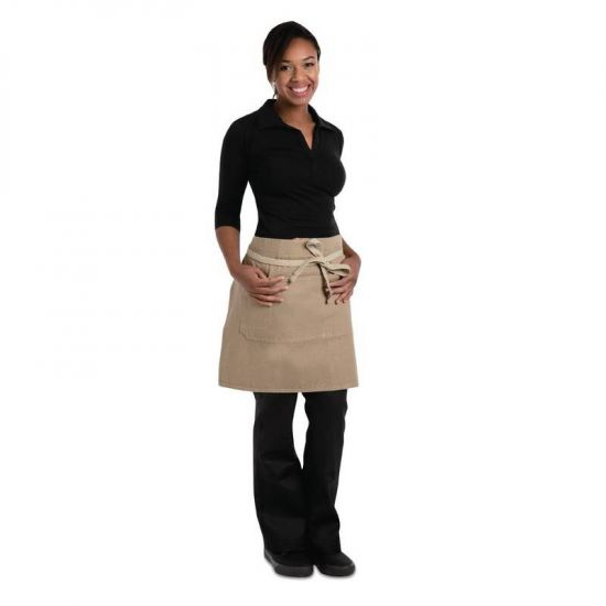 Chef Works Urban Austin Denim Half Bistro Apron Natural URO BB019