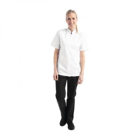 Chef Works Womens Springfield Zip Chefs Jacket White L URO BB052-L