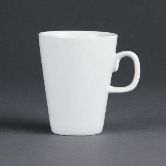 Olympia Whiteware Latte Mugs 285ml 10oz Box of 12 URO C359