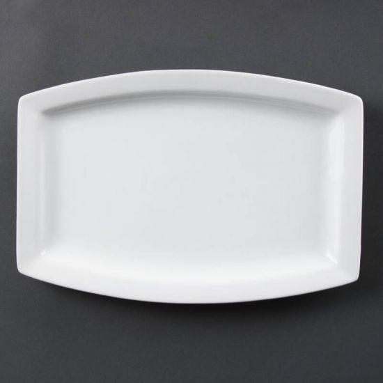 Olympia Whiteware Rectangular Plates 320mm Box of 6 URO C361