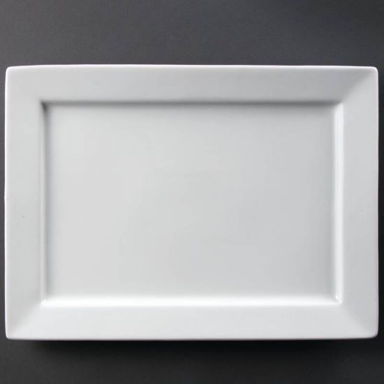 Olympia Wide Rim Rectangular Platter 400x 295mm URO C362