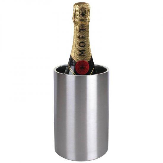 Olympia Wine Bottle Cooler Brushed Steel URO C386