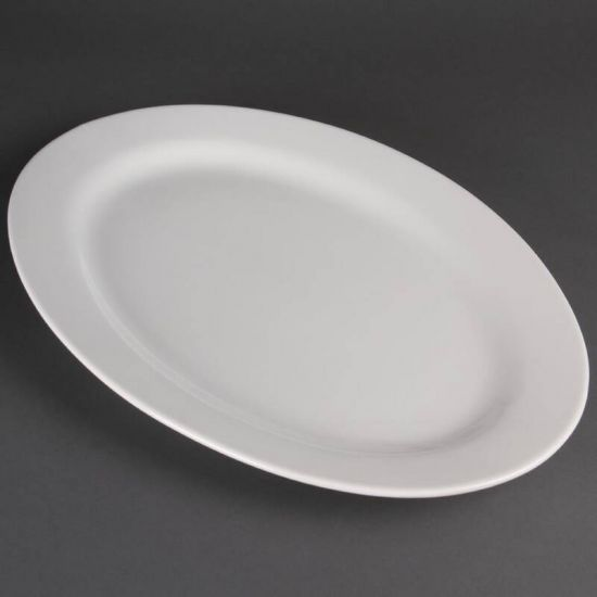 Olympia Oval Wide Rimmed Platter 510mm URO C466