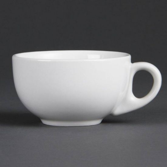 Olympia Whiteware Cappuccino Cups 200ml 7oz Box of 12 URO CB469