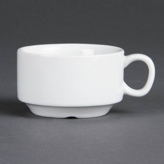 Olympia Whiteware Stacking Espresso Cups 85ml 3oz Box of 12 URO CB471