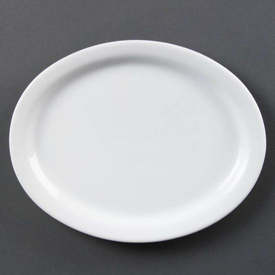 Olympia Whiteware Oval Platters 250mm Box of 6 URO CB477