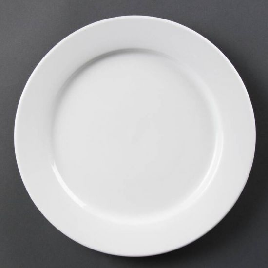 Olympia Whiteware Wide Rimmed Plates 280mm Box of 6 URO CB482
