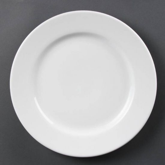 Olympia Whiteware Wide Rimmed Plates 310mm Box of 6 URO CB483