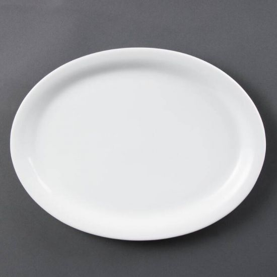 Olympia Whiteware Oval Platters 295mm Box of 6 URO CB484
