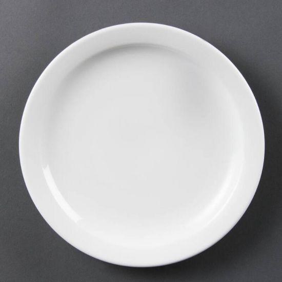 Olympia Whiteware Narrow Rimmed Plates 202mm Box of 12 URO CB488