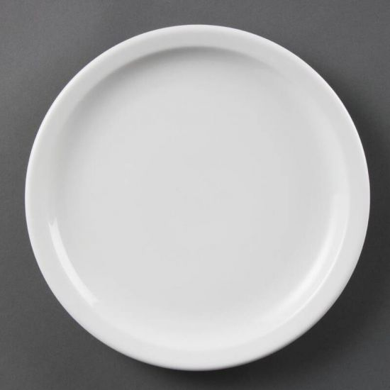 Olympia Whiteware Narrow Rimmed Plates 230mm Box of 12 URO CB489