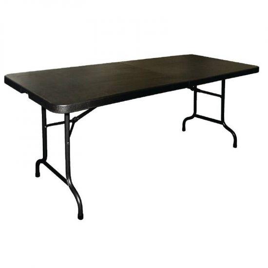 Bolero Centre Folding Utility Table Black 6ft URO CB518