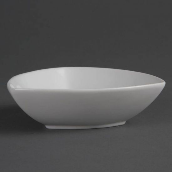 Olympia Whiteware Rounded Triangular Bowls 155mm Box of 6 URO CB678