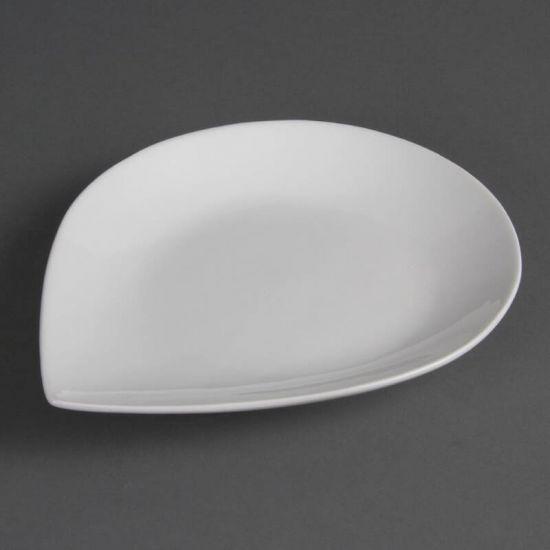 Olympia Whiteware Tear Plates 255x 207mm Box of 6 URO CB682