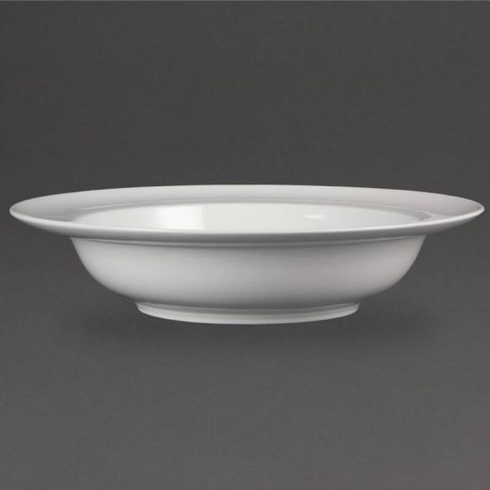 Olympia Whiteware Wide Rim Bowls 228mm 710ml 25oz Box of 4 URO CB694
