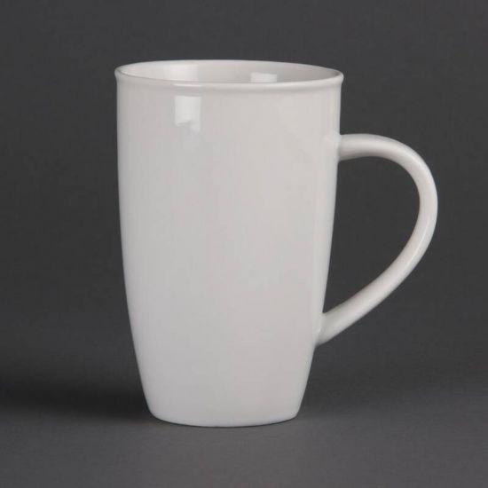 Olympia Whiteware Latte Mugs 400ml 14oz Box of 6 URO CB700