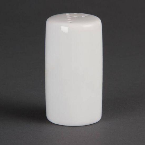 Olympia Whiteware Pepper Shakers 80mm Box of 12 URO CB703