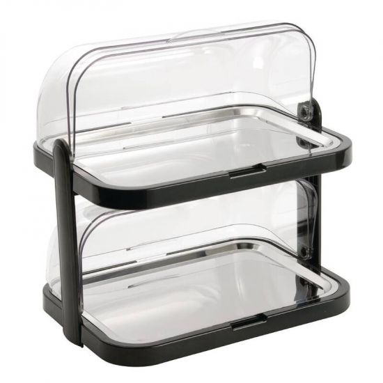 Double Decker Roll Top Cool Display Trays URO CB794