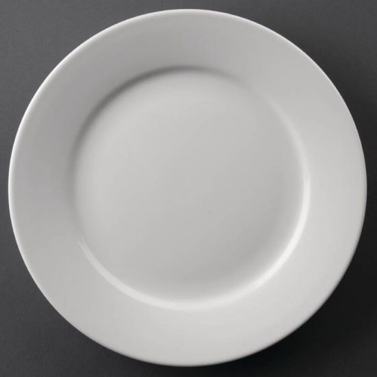Athena Hotelware Wide Rimmed Plates 228mm Box of 12 URO CC208