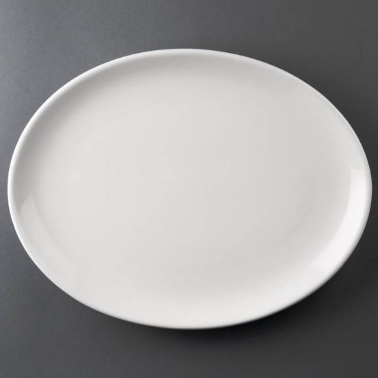 Athena Hotelware Oval Coupe Plates 305 X 241mm Box of 6 URO CC212