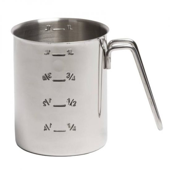 Graduated Stainless Steel Measuring Jug 1Ltr URO CC402