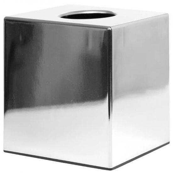 Chrome Cube Tissue Holder URO CC493