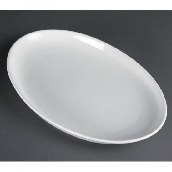 Olympia French Deep Oval Plates 365mm Box of 2 URO CC891