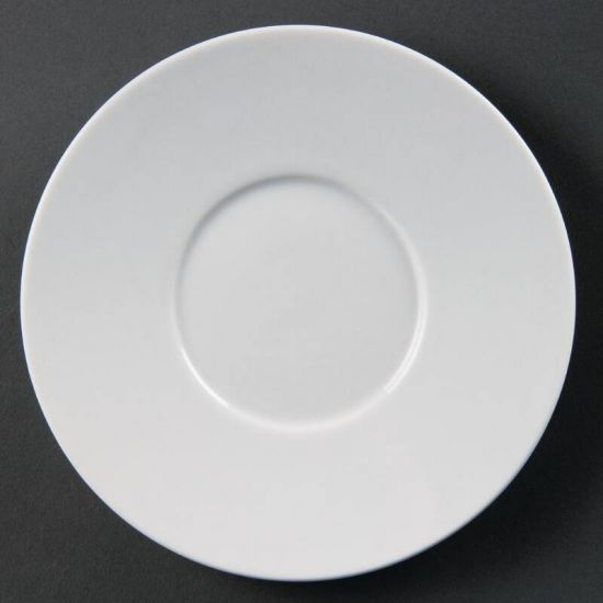 Olympia Whiteware Elegant Saucers 148mm Box of 12 URO CD737