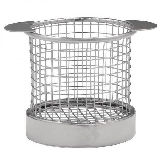 Olympia Chip Basket Round With Ears 80mm URO CE149