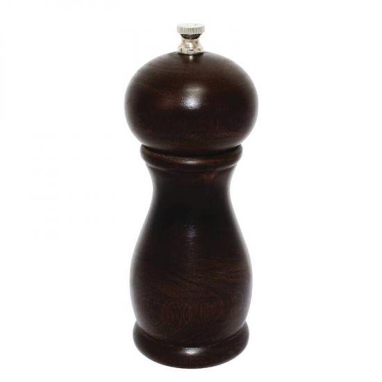 Dark Wood Salt And Pepper Mill 6in URO CE333