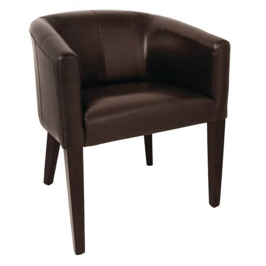 Bolero Dark Brown PU Leather Tub Armchair URO CE593