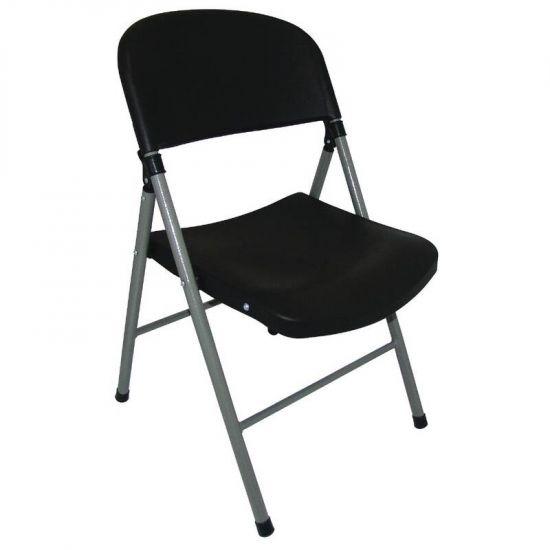 Bolero Foldaway Utility Chair Black (Pack Of 2) URO CE693