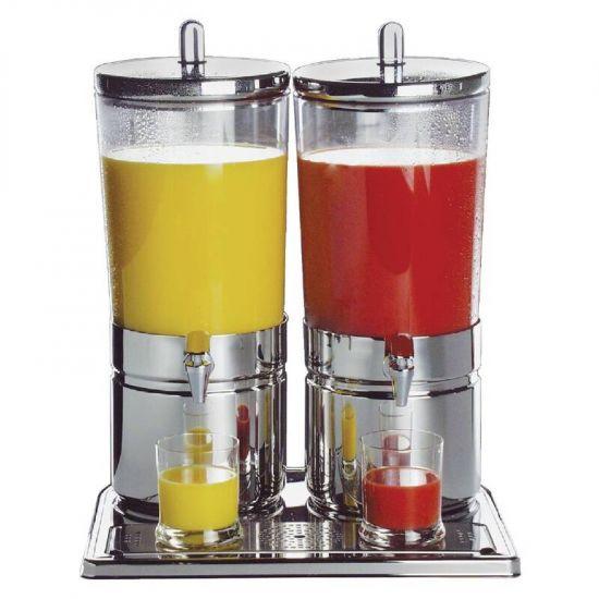 APS Stainless Steel Juice Dispenser Double URO CF066