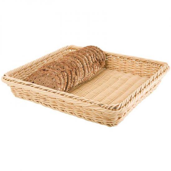 Polypropylene Natural Rattan Basket 1/2 GN URO CF303