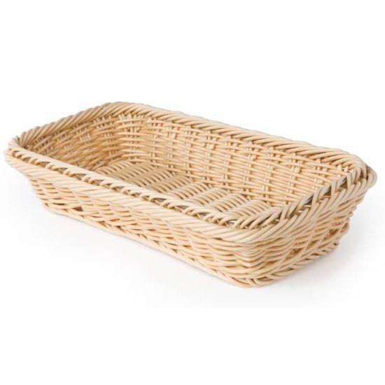 Polypropylene Natural Rattan Basket 1/3 GN URO CF304