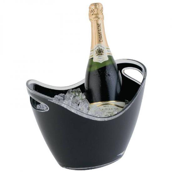 APS Black Acrylic Wine And Champagne Bucket URO CF312
