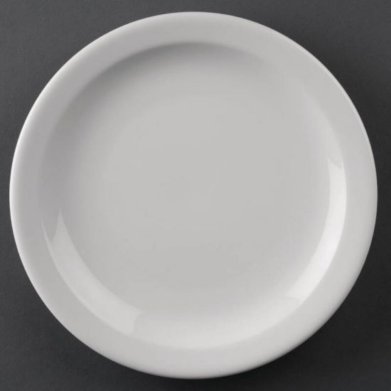 Athena Hotelware Narrow Rimmed Plates 205mm Box of 12 URO CF362