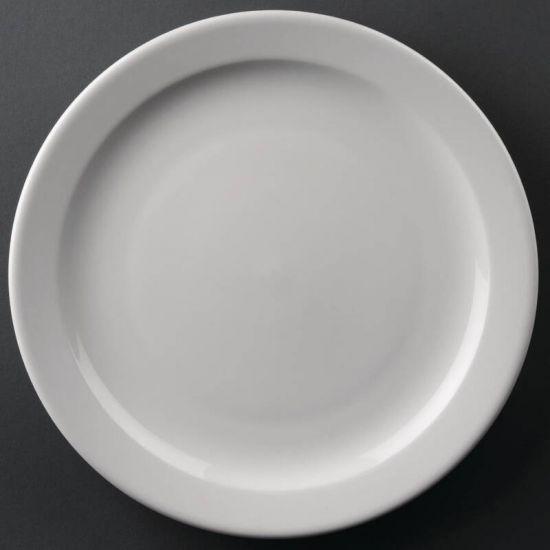 Athena Hotelware Narrow Rimmed Plates 258mm Box of 12 URO CF364