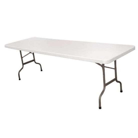 Bolero Centre Folding Table 8ft White URO CF375