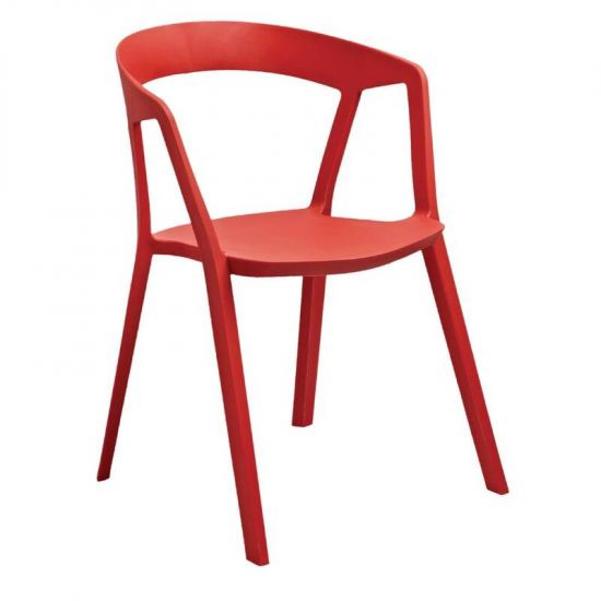 Bolero Red Polypropylene Armchairs (Pack Of 4) URO CG071