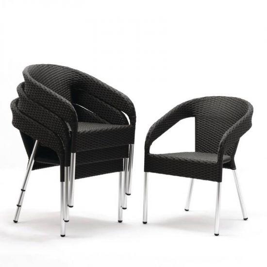 Bolero Wicker Wraparound Bistro Chairs (Pack Of 4) URO CG223