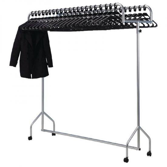 Twin Top Steel Garment Rail URO CG769